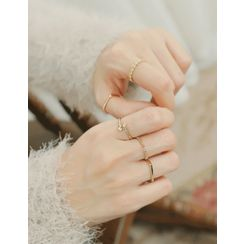 soo n soo - Set of 5: Layered Rings