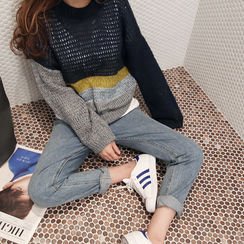 NANING9 - Color-Block Sweater