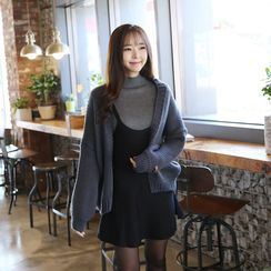 Envy Look - Open-Front Drop-Shoulder Cardigan