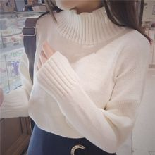 Dute - Mock Neck Plain Sweater