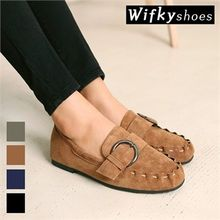 Wifky - Buckled Faux-Suede Loafers