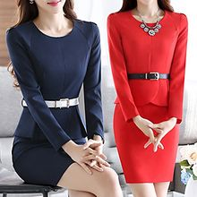 Mukouf - Long-Sleeve Peplum Dress