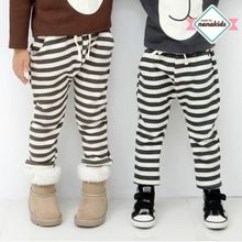 nanakids - Kids Stripe Brushed-Fleece Lined Sweatpants