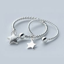 A'ROCH - 925 Sterling Silver Star Open Ring