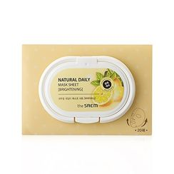The Saem - Natural Daily Mask Sheet (Brightening) 20sheets