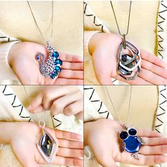 HEDGY - Rhinestone Pendant Necklace (Various Designs)