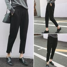 Moon City - Slit Cropped Pants