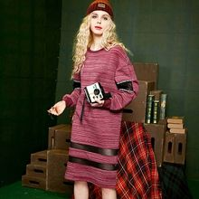 ELF SACK - Mesh Panel Pullover Dress