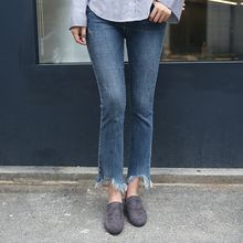 Envy Look - Fringed-Hem Boot-Cut Jeans