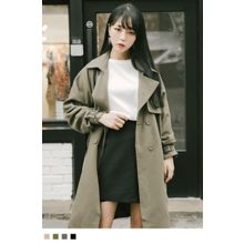 10WORLD - Double-Breasted Notched-Lapel Trench Coat