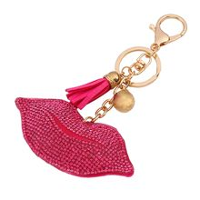 Chidori - Tasseled Rhinestone Lip Key Chain