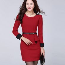 In the Mood - Long Sleeve Peplum Mini Dress