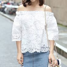 Isadora - Lace 3/4 Sleeve Off Shoulder Top