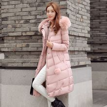 Ekim - Faux Fur Trim Padded Coat