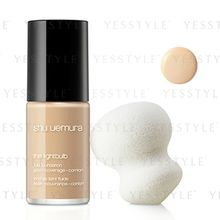 Shu Uemura - The LightBulb Fluid Foundation and Sponge (#354 Medium Amber)