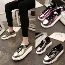 Simply Walk - Metallic Platform Sneakers