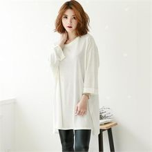 GLAM12 - Round-Neck Long T-Shirt