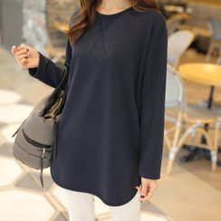 CLICK - Coral-Fleece Lined Long T-Shirt