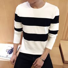 Alvicio - Contrast Color Long-Sleeved T-Shirt