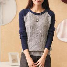 Weaverbird - Beaded Raglan-Sleeve Sweater