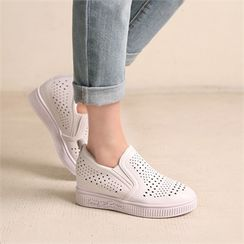 Wifky - Perforated Hidden-Heel Slip-Ons