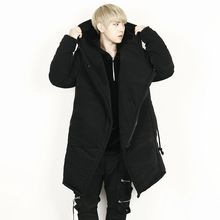 Rememberclick - Oversized Padded Zip-Up Hoodie Jacket