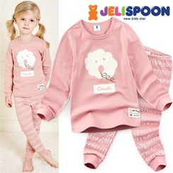 JELISPOON - Kids Pajama Set: Print Top + Pants