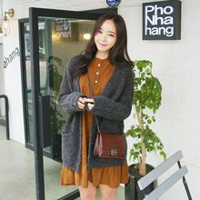 Envy Look - V-Neck Rib-Knit Cardigan