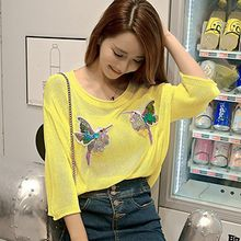 Lovebirds - Applique Knit Top