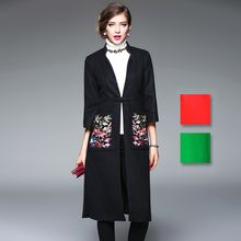 Y:Q - Floral Embroidered Coat