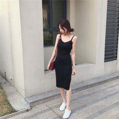 ALIN STYLE - Slit Side Bodycon Dress