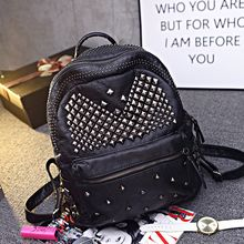 Shinian - Studded Faux-Leather Backpack