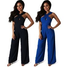 Hotprint - Cross Strap Jumpsuit