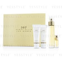 Perry Ellis - 360 Coffret: Eau De Toilette Spray 100ml/3.4oz + Body Lotion 90ml/3oz + Shower Gel 90ml/3oz + EDT Spray 7.5ml/0.25oz