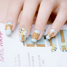 GEL NAILS - Giraffe Print Nail Wrap