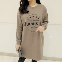 CLICK - Brushed-Fleece Lettering Print Dress