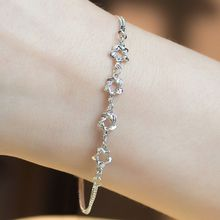 Kitty Kiss - 925 Sterling Silver Star Bracelet