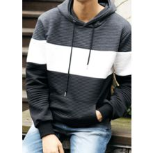 HOTBOOM - Hooded Color-Block Pullover