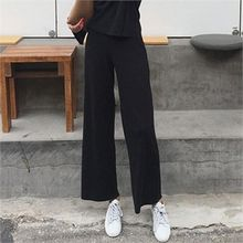 LIPHOP - Wide-Leg Ribbed Sweatpants