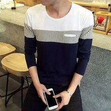 Besto - Color Block Long-Sleeve T-Shirt
