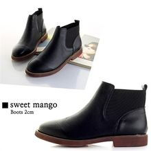 SWEET MANGO - Genuine-Leather Chelsea Ankle Boots