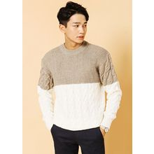 HOTBOOM - Color-Block Sweater