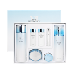 Missha - Time Revolution White Cure Set : Toner 150ml + 30ml + Lotion 130ml + 30ml + Cream 50ml +  Serum 7ml + Spot Eraser 10ml