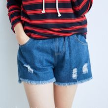 BAIMOMO - Fray-Hem Distressed Denim Shorts