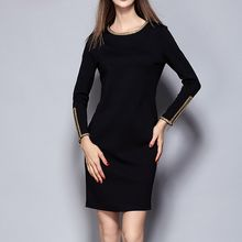 Merald - Long-Sleeve Embroidered Sheath Dress