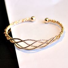 HEDGY - Ribbed Layered Open Bangle