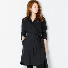 FASHION DIVA - Hidden-Button Shirtdress with Sash