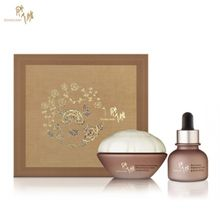 DONGINBI 彤人秘 - CHO Red Ginseng Eye Care Set : Concentrated Moisturizing Eye Cream 25ml +  Brightening Eye Oil 20ml