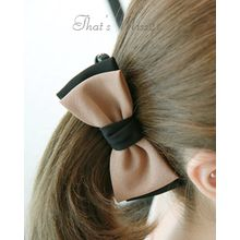 Miss21 Korea - Tow-Tone Bow Hair Clamp