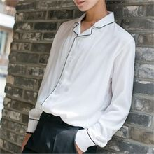 STYLEMAN - Piped Long-Sleeve Shirt